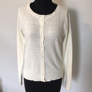 Forever 21 Pearl Button Up Cardigan, M